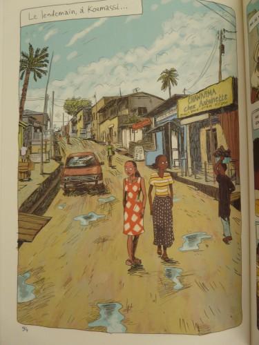 Marguerite Abouet et Clément Oubrerie, 2006, Aya de Yopougon, tome 2, planche 94.