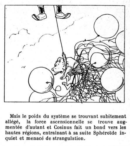 """L'idée fixe du savant Cosinus, IXe chant, « Un habitant dans la lune », Christophe.Source : site """"Töpfferiana""""."""