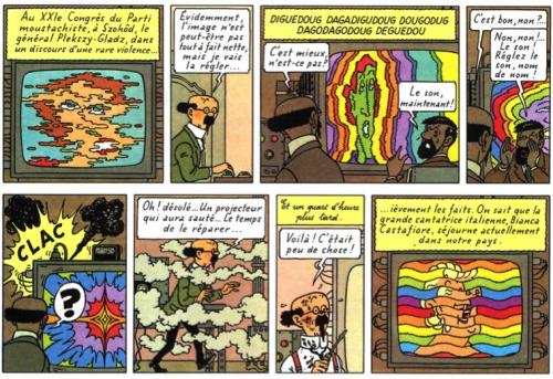 Figure 1 Le professeur Tournesol, Les Bijoux de la Castafiore, Les aventures de Tintin, Hergé, 1963.