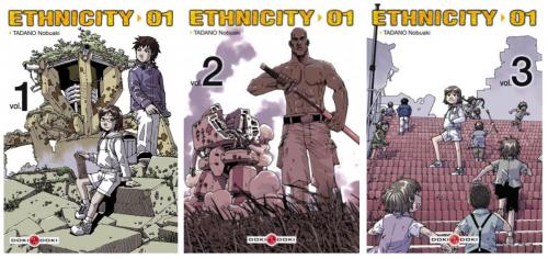 Les couvertures des trois tomes de la série Ethnicity 01.