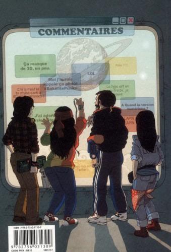 Album et blog-BD : allers-retours entre numérique et papier dans la bande dessinée Source : Boulet, 2012, Notes, tome 7, FormicaPunk, Delcourt, 4ème de couverture
