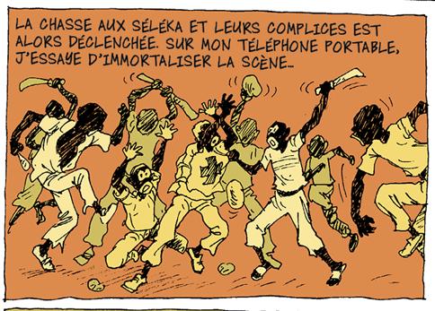 Didier Kassaï, 2014, Bangui, terreur en Centrafrique,extrait de la planche 15, épisode 4.