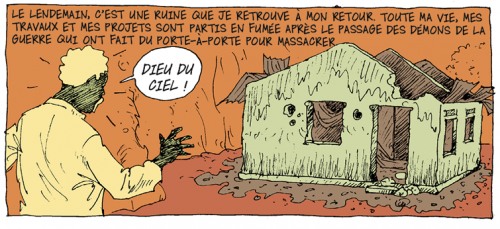 Didier Kassaï, 2014, Bangui, terreur en Centrafrique,extrait de la planche 17, épisode 4.
