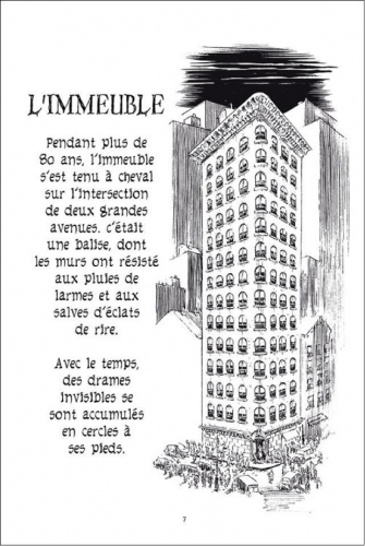 Will Eisner, L'Immeuble, New York Trilogy, tome 2, Delcourt, 2008, p. 7.