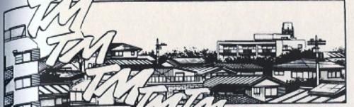 Loin de la verticalité et de la densité de l'hypercentre : les paysages du Tokyo périurbain, très présents dans les mangas Source : Rumiko Takahashi, Ranma 1/2,