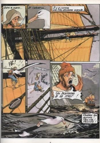 """François Bourgeon, 1979, Les Passagers du Vent, """"La fille sous la dunette"""", tome 1, Glénat."""