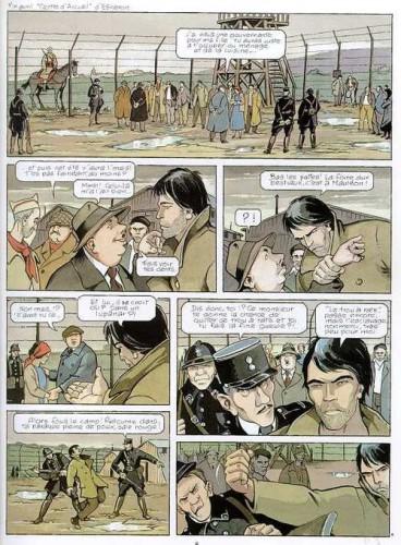 """Frank Giroud, Jean-Paul Dethorey et Julie Carle, 1993, Louis la Guigne, tome 12 """"Les parias"""", Glénat, planche 3."""