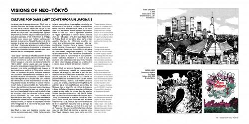 """Extrait de Mangapolis. La ville japonaise dans le manga Adrian Favel, """"Visions of Neo-Tôkyô. Culture pop dans l'art contemporain japonais"""", pp. 114-115."""