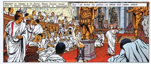 Alix, tome 12, Le Fils de Spartacus, p.13 (1975) : d'une Curie ronde…