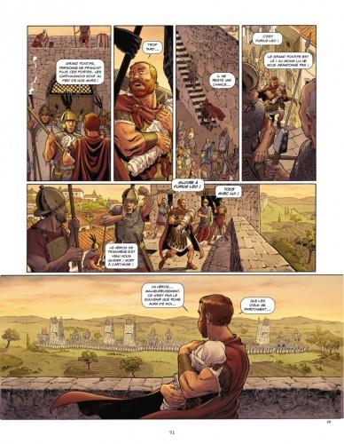 Quand la ficion prend le pas sur la réalité : dans « Vaincre ou mourir », Rome est assiégée par les troupes d'Hannibal. © Convard-Adam-Boisserie-Erbetta-Chaillet/Glénat
